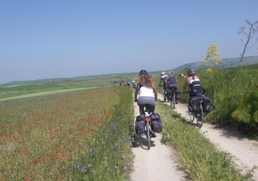 cicloturismo - foto d'archivo