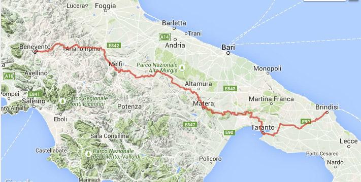 Itinerario edizione 2015