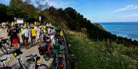 Bicistaffetta al traguardo: ora la Ciclovia Adriatica è meno lontana