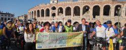 Successo AIDA: la Bicistaffetta promuove la ciclovia delle città